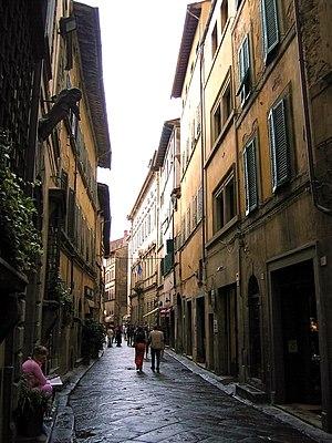 Street in Cortona (Tuscany, Italy).