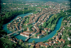 English: An aerial photo of Bern.