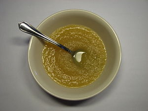 Bowl of Mott's Cinnamon Flavored Apple Sauce