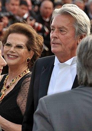 Français : Claudia Cardinale et Alain Delon au...