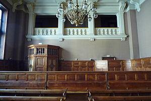 Français : Ancienne salle de la cour d'appel. ...