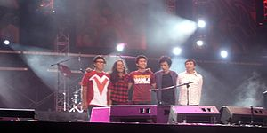 """English: Members of the Eraserheads at """"T..."""