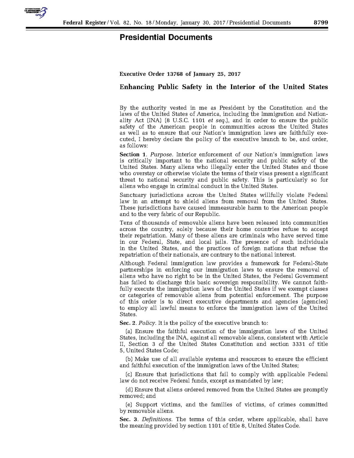 Executive Order 13768 Wikipedia