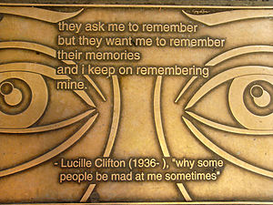 Lucille Clifton plaque