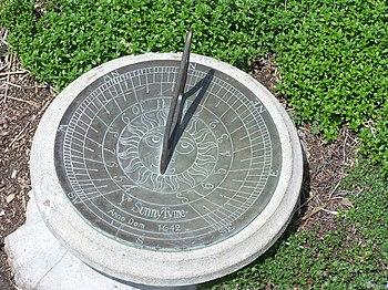 Sundial in thyme garden at Minnesota Landscape...