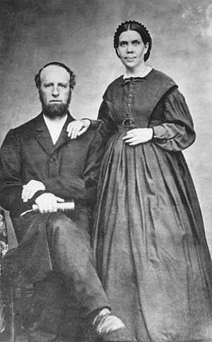 English: James and Ellen White, taken from htt...