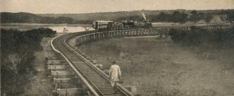 El tren lunático cerca de Mombasa