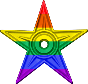 English: The LGBT Barnstar is awarded to edito...