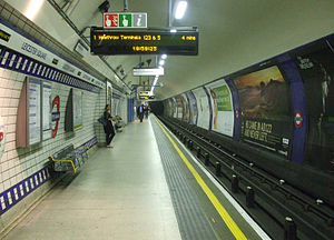 English: Leicester Square tube station Piccadi...