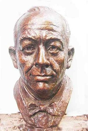 Noel Coward: sculpted by Victor Heyfron, M.A.