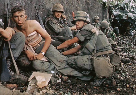 Wounded Marines, Vietnam