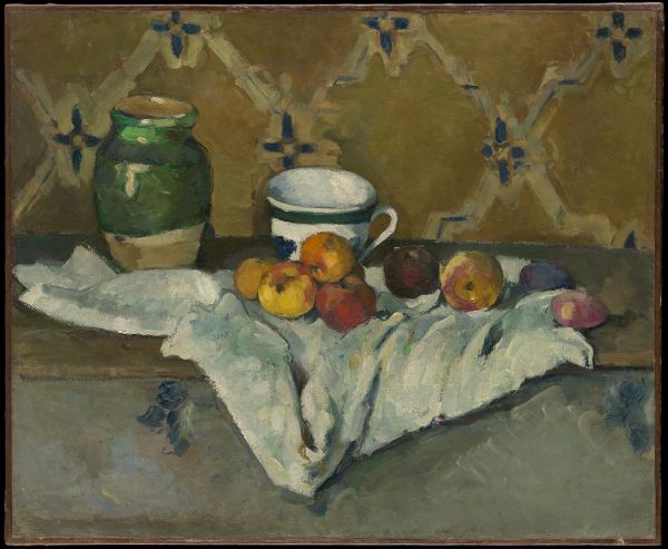 FilePaul Cézanne Still Life with Jar Cup and Apples