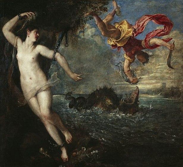 Perseo y Andrómeda, por Tiziano