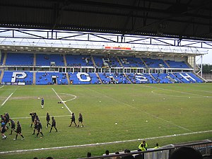 Peterborough United's South Family Stand begin...