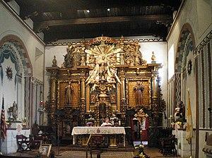 English: San Fernando Mission Church Interior,...