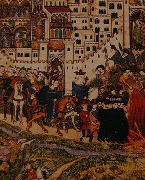 English: Knights Templar and Philip IV