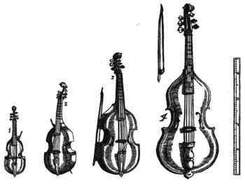 Various Viols Nederlands: Diverse typen violas