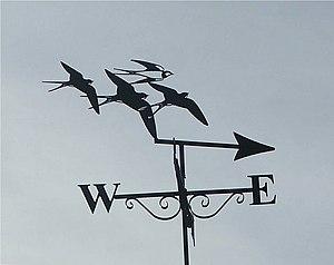English: Weather Vane Beautiful weather vane o...