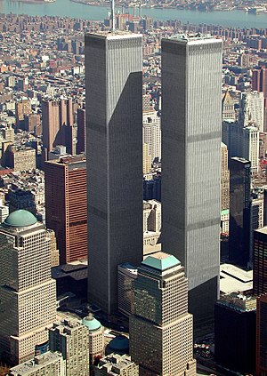 English: World Trade Center, New York, aerial ...