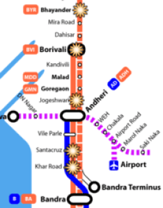 Map showing the  western line and blast locations also mumbai train bombings wikipedia rh enpedia
