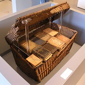 A box with about 150 jewish books which were h...