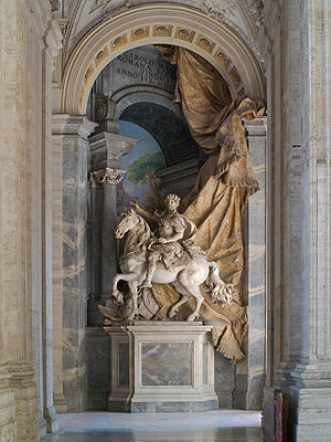 Monumental equestrian statue of Charlemagne, b...