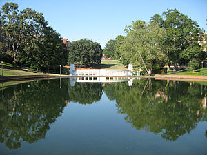 The reflection pond at Clemson University