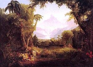 """""""The Garden of Eden"""" by Thomas Cole ..."""