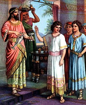 English: Daniel refusing the King's Food