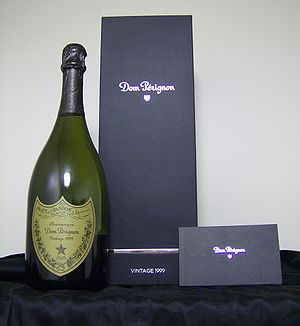 A bottle of vintage 1999 Dom Perignon, with ac...