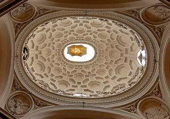 English: Elliptic dome of San Carlo alle Quatt...