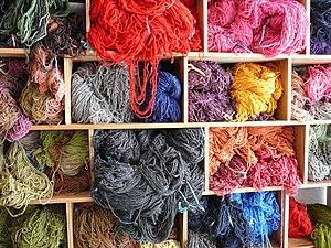 Dyed wool - Salinas - Ecuador