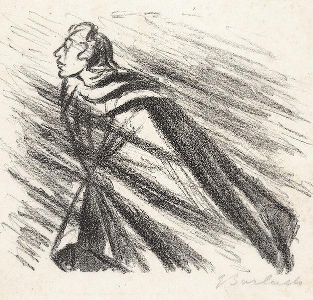 """Rastlose Liebe, Lithographie, 18 x 23 cm (Darstellung); 1924  Aus dem Mappenwerk """"Goethe/Ausgewählte Gedichte"""""""
