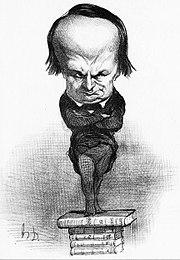 Caricatura de Victor Hugo por Honoré Daumier, 1849