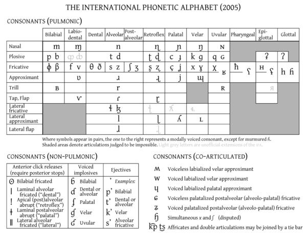 Міжнародний фонетичний алфавіт — Вікіпедія