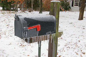 Photo of ice-covered mailbox in Spotsylvania C...