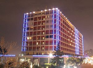 Makedonia Palace Hotel night view. Thessalonik...