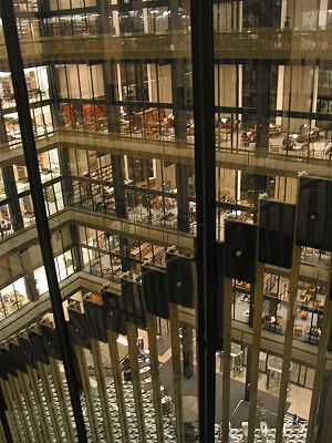 View of the inside of the Elmer Holmes Bobst L...