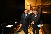 José Manuel Barroso (left) and Nicos Anastasiades (right) in January 2013 in Cyprus