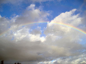 Primary rainbow with supernumeraries
