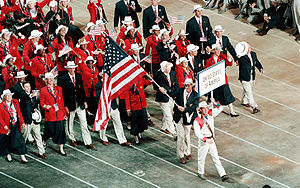 Athletes from the United States of America mar...