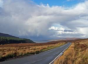 The road to Waternish Under a dramatic sky, su...