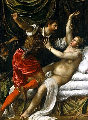 Titian's image of the rape of Lucretia