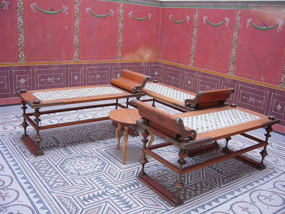 Roman Chairs Triclinium Wikipedia