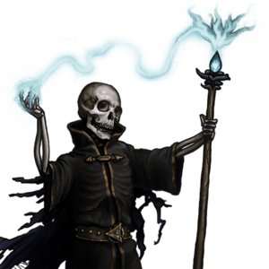 A depiction of a lich from the game The Battle...