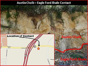 English: Outcrop of the Eagle Ford and Austin ...
