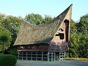 A traditional Batak house in North Sumatra