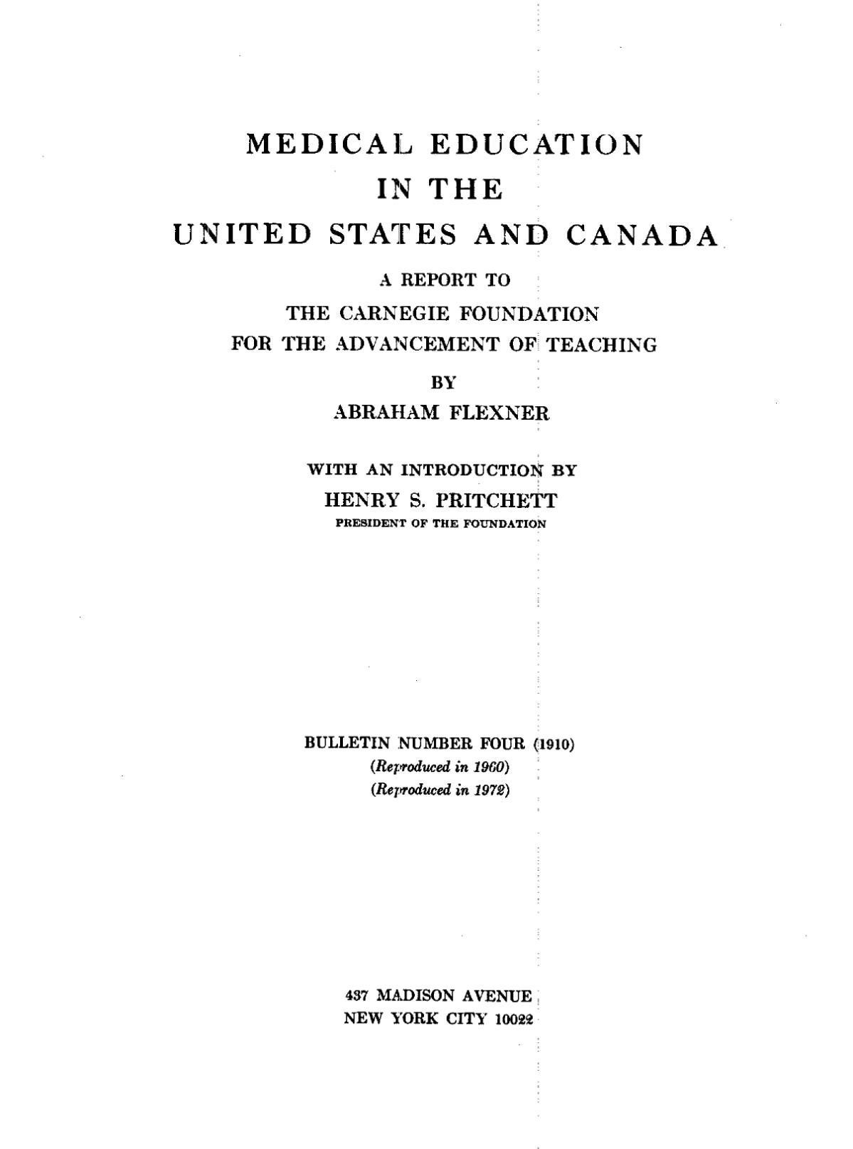 Flexner Report  Wikipedia