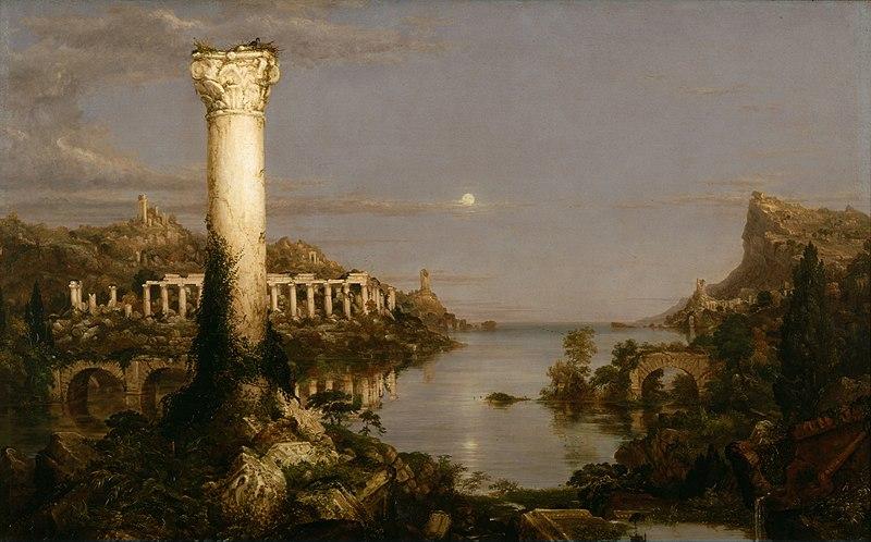 Thomas Cole the Course of Empire 1836 - Desolation