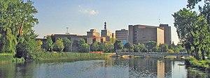Downtown Flint as seen from the Flint River.